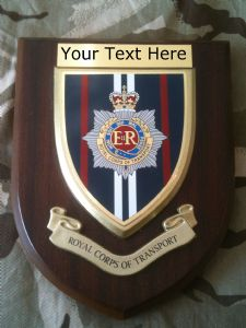 RCT Royal Corps of Transport Personalised Military Wall Plaque